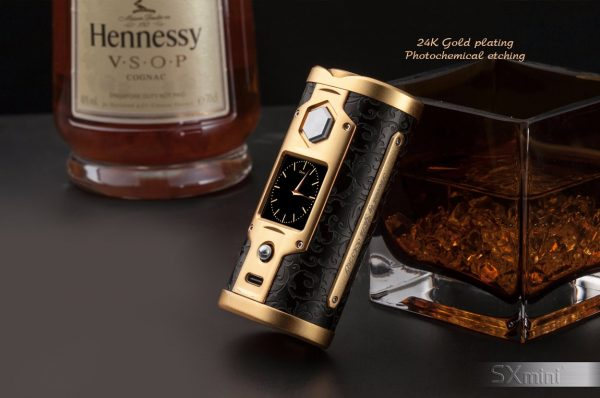 SXmini G Class Luxury Golden Limited Edition 200W TC Box MOD 7 vapesaigon