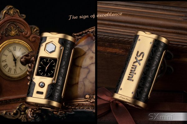 SXmini G Class Luxury Golden Limited Edition 200W TC Box MOD 6 vapesaigon