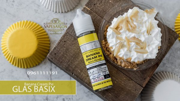Banana Cream Pie by Glas Basix Series E-Liquid 3-vapesaigon